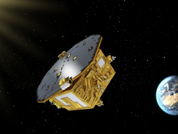 Visualisation of the LISA Pathfinder (Credits: ESA–C.Carreau)