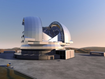 The Extremely Large Telescope (E-ELT),design concept 2011 (Credit: ESO)