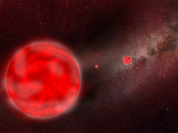 An artist's impression of a Red Giant